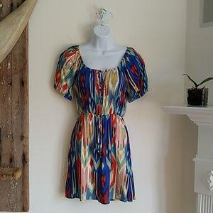 Everly Anthropologie Geometric Print Dress S